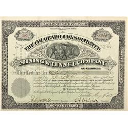 CO - Leadville,Lake County - 1882 - The Colorado Consolidated Mining & Tunnel Company of Colorado St