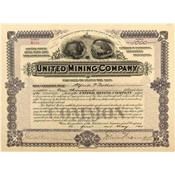CO - Leadville,Lake County - 1905 - United Mining Company Stock Certificate