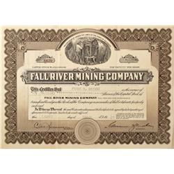 CO - Lincoln,Clear Creek County - 1927 - Fall River Mining Company Stock Certificate - Fenske Collec