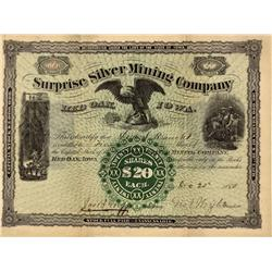 CO - Ouray,December 20, 1880 - Surprise Silver Mining Company, Stock Certificate