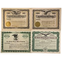 CO - Ouray and San Juan Counties,1909-1956 - Miscellaneous Colorado Stock Certificate - Fenske Colle