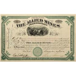 CO - Ouray County,1880 - Allied Mines Stock Certificate - Fenske Collection