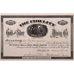 CO - Ouray County,1881 - Fidelity Gold and Silver Mining Co. Stock Certificate - Fenske Collection
