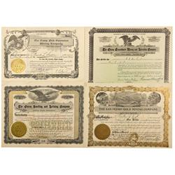 CO - Ouray County,1903-1918 - Ouray County Mining Stock Certificate Group