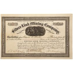 CO - Ouray County,1884 - Silver Link Mining Company Stock Certificate - Fenske Collection