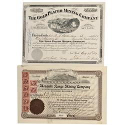 CO - Park County,1881, 1915 - Park County Stock Certificate Group