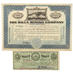 CO - Pollack,Summit County - 1881, 1917 - Pollack Mining District Stock Certificate Group