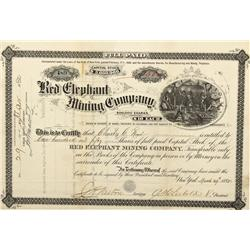 CO - Red Elephant,Clear Creek County - 1880 - Red Elephant Mining Company