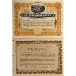 CO - Rico,Dolores County - 1908-1915 - Dolores County Stock Certificates - Fenske Collection