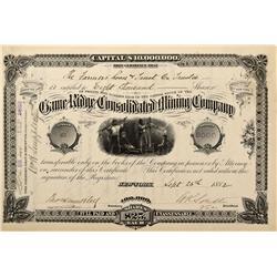 CO - Rosita,Custer County - 1882 - Game Ridge Consolidated Mining Company Stock Certificate - Fenske