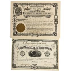 CO - Rosita, Buena Vista,Custer, Chaffee County - 1882, 1908 - Colorado Mining Stocks
