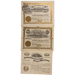 CO - Salida,Chaffee County - 1906, 1907 - Salida Stock Certificate Group - Fenske Collection