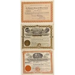 CO - San Juan County,1903-1917 - San Juan County Stock Certificate Group