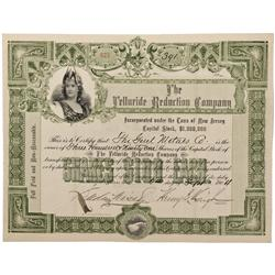 CO - San Miguel County,1904 - Telluride Reduction Company Stock Certificate
