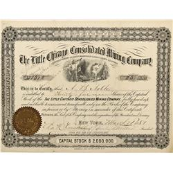 CO - Sheep Mountain,Summit County - 1881 - Little Chicago Consolidated Mining Company Stock Certific