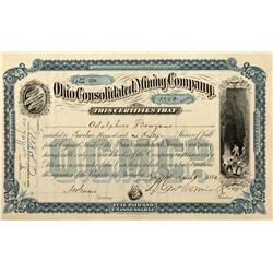 CO - Sherman,Hinsdale County - 1880 - Ohio Consolidated Mining Company Stock Certificate