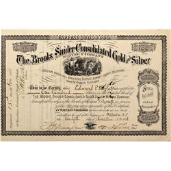 CO - Shock Hill,Summit County - 1881 - Brooks Snider Consolidated Gold and Silver Mining Company Sto