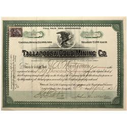 GA - Tallapoosa,1901 - Tallapoosa Gold Mining Co. Stock - Fenske Collection