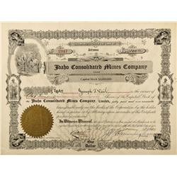 ID - 1900 - Idaho Consolidated Mines Company Stock - Fenske Collection