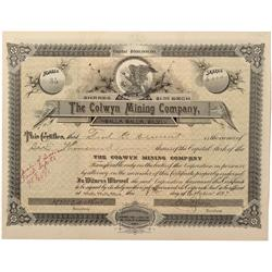 ID - Beaver District,Shoshone County - 1897 - Colwyn Mining Company Stock Certificate - Fenske Colle