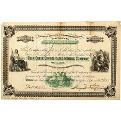 ID - Deer Creek,Nez Perce County - 1885 - Deer Creek Consolidated Mining Company Stock - Fenske Coll