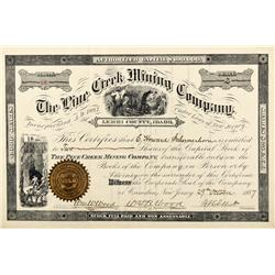 ID - Lemhi County,1887 - The Pine Creek Mining Company Stock - Fenske Collection