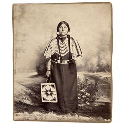 ID - Nez Perce County,No Date - Nez Perce Indian Woman Photo - Mueller Collection