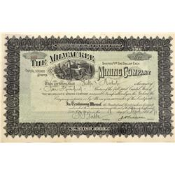 ID - Wallace,April 18, 1891 - The Milwaukee Mining Company Stock Certificate - Fenske Collection