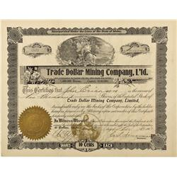 ID - Wallace,Shoshone County - 1902 - Trade Dollar Mining Company Limited Stock - Fenske Collection