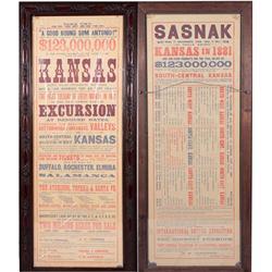 KS - 1882 - Atchison, Topeka, & Santa Fe Railroad Broadside - Mueller Collection