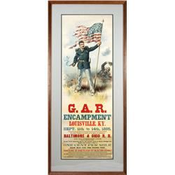 KY - Louisville,Jefferson County - 1895 - G.A.R. Encampment Lithograph, Framed - Mueller Collection