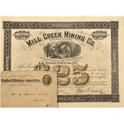 MT - Anaconda,Deer Lodge County - June 3, 1892 - Mill Creek Mining Company - Fenske Collection