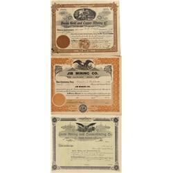 MT - Basin,Jefferson County - 1899; 1922 - Basin Area Stock Certificates - Fenske Collection