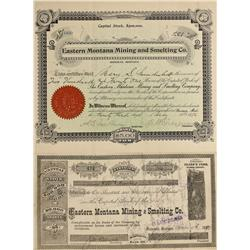 MT - Bozeman,Gallatin County - 1890; 1896 - Bozeman, Montana Stock Certificates - Fenske Collection