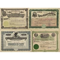 MT - Butte,Silver Bow County - Butte, Montana Area Stock Certificates - Fenske Collection