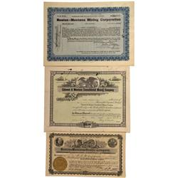MT - Elkhorn District,Beaverhead County - 1906-1926 - Boston-Montana Mining Corporation Stock Certif