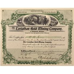 MT - Mammoth,Madison County - 1900 - Leviathan Gold Mining Company of Mammoth, Montana Stock Certifi