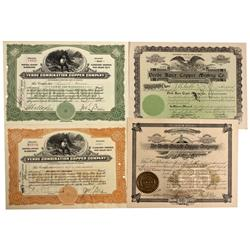 MX - Ures District,Sonora County - 1902 - Verde Combination Copper Company Stock Certificate