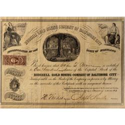 NC - Charlotte,Mecklernburg  County - January 28, 1863 - Rudisell Gold Mining Company of Baltimore C