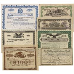 NV - c1975 - Nevada Bank Stock Certificates - Gil Schmidtmann Collection