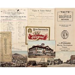 NV - 1903, 1905, 1906, 1909 - Nevada Mining Related Ephemera