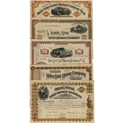 NV - Gold Mountain County - 1881-1882 - State Line Stock Certificate Collection - Gil Schmidtmann Co