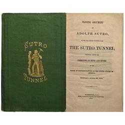 NV - 1872 - Sutro Tunnel Book