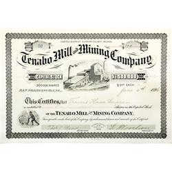 NV - Tenabo County - 1896 - Tenabo Mill and Mining Co. Stock Certificate