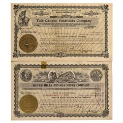 NV - Tule Canyon County - 1907 - Tule Canyon Stock Certificates