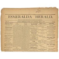 NV - Aurora,Esmerelda County - 1870-1897 - Esmeralda Herald Newspapers - Gil Schmidtmann Collection