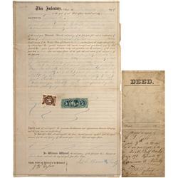 NV - Aurora,Esmeralda County - 1867 - Indenture - Clint Maish Collection