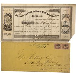NV - Austin,Lander County - 1860s - Austin Territorial Stock and Cover Group - Clint Maish Collectio