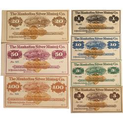 NV - Austin,Lander County - 1870s - Manhattan Silver Mining Company Scrip - Clint Maish Collection