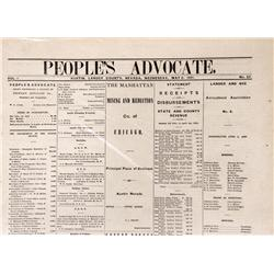 NV - Austin,Lander county - May 6, 1891 - The People's Advocate Newspaper - Gil Schmidtmann Collecti